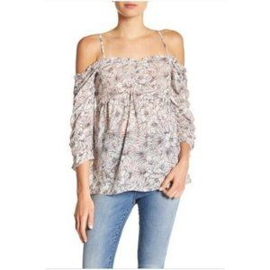 3/$25 William Rast Off The Shoulder Floral Top L